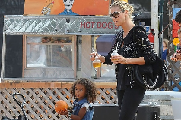 Heidi Klum and daughter Lou Sulola Samuel