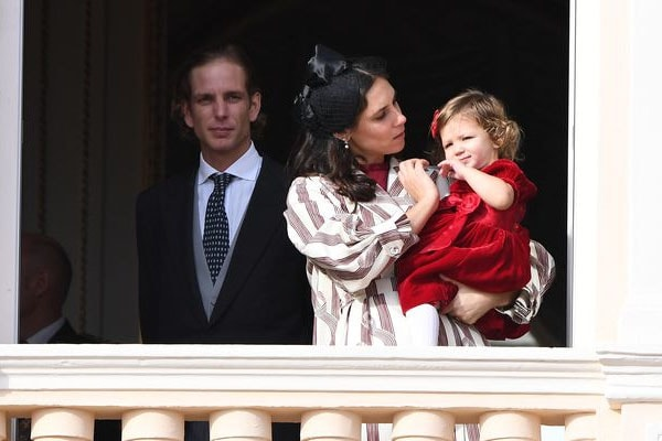India Casiraghi with parents, Andrea and Titiania