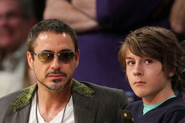 Robert Downey Jr and his son Indio Falconer Downey