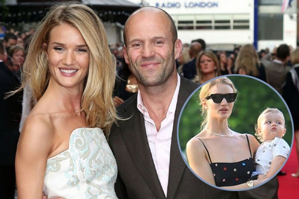 Jason Statham's son Jack Oscar Statham and fiance Rosie Huntington-Whiteley