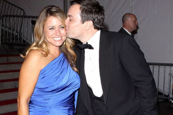 Jimmy Fallon and his wife Nancy Juvonen,