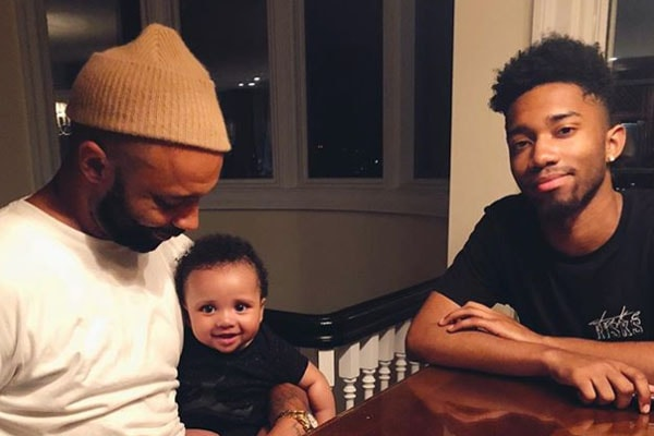 Joe Budden with son Lexington and Trey Budden