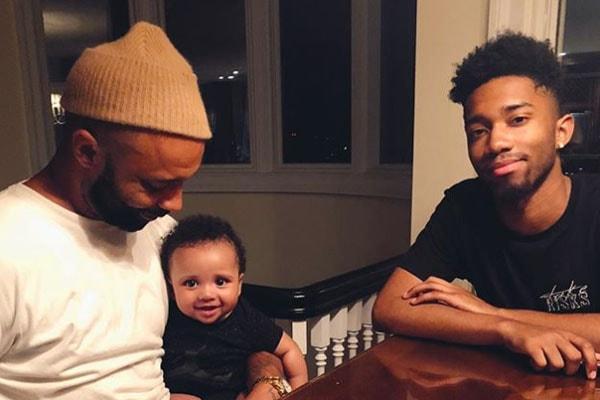 Joe Budden with son Trey Budden and Lexington Budden