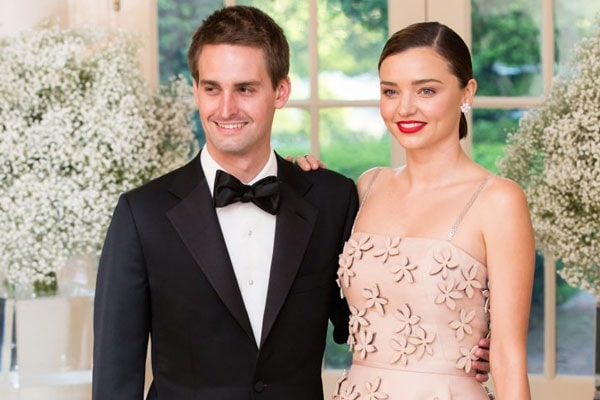 Miranda Kerr and her husband Evan Spiegel's son