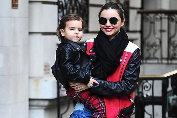 Miranda Kerr with her son