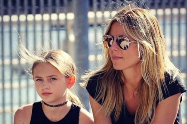 Heidi Klum and her daughter Helene Boshoven Samuel