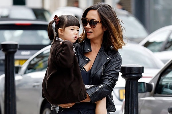 Myleene Klass has a daughter named Hero Harper Quinn