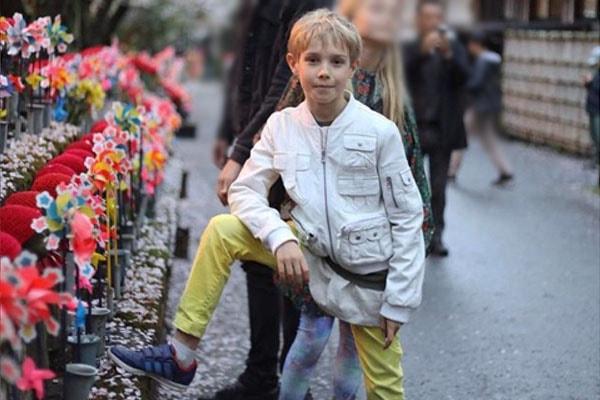 Viktor Portman, son of Natalia Vodianova