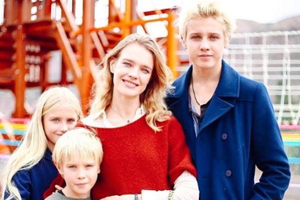Natalia Vodianova's children, Lucas Alexander, Neva and Viktor Portman