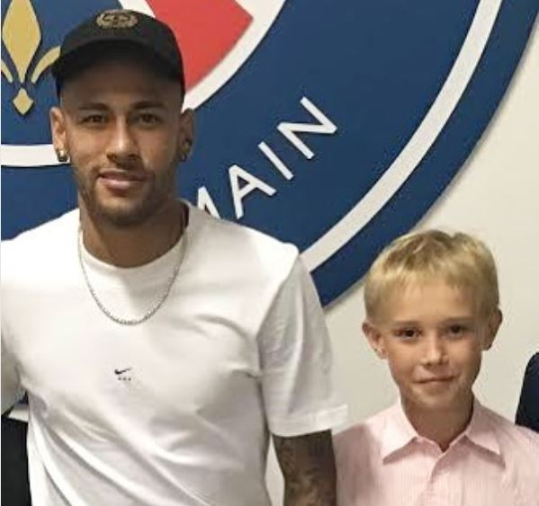 Natalia Vodianova's son Viktor Portman and Neymar Jr