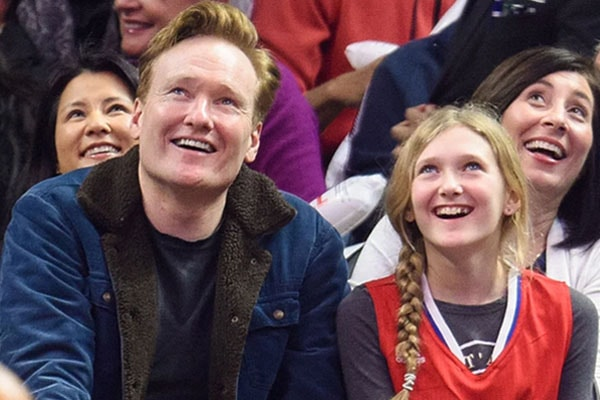 Neve O'Brien with father, Conan O'Brien