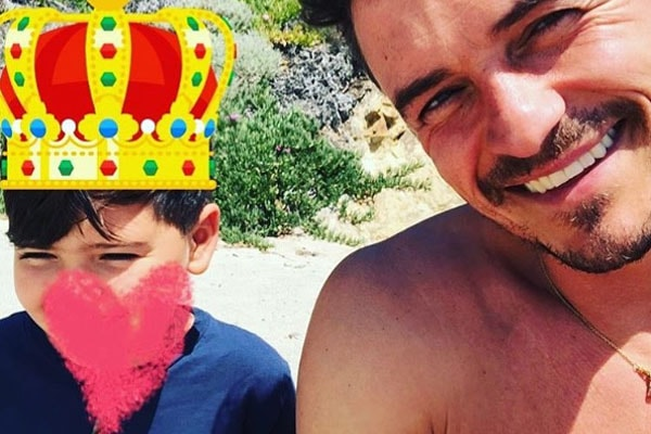 Orlando Bloom with son Flynn Christopher Bloom