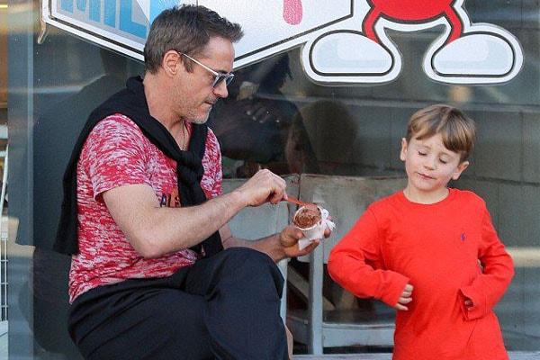 Robert Downey Jr and son Exton Elias Downey