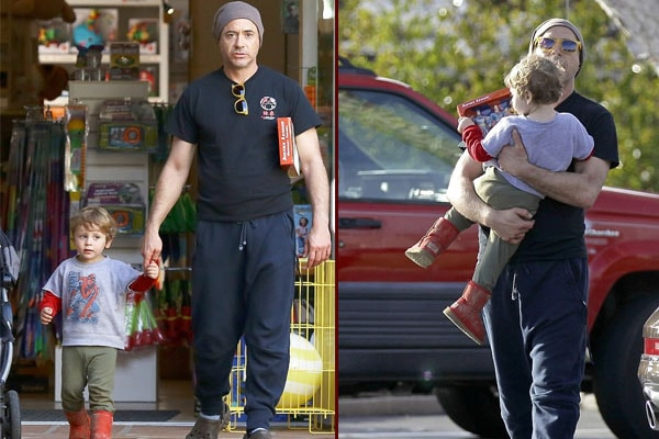 Robert Downey Jr. and son Exton Elias Downey