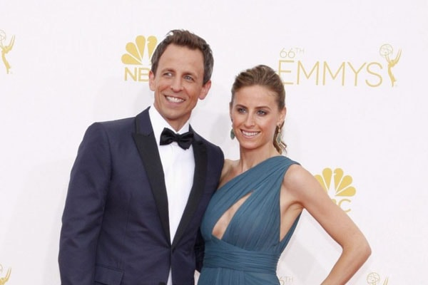 Seth Meyers and his wife Alexi Ashe,