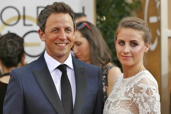 Seth Meyers and his wife Alexi Ashe