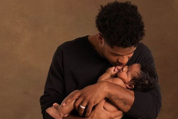 Chanel Iman's daughter Cali Clay Shephard and husband Sterling Shephard