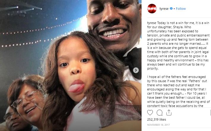 Tyrese's daughter Shayla