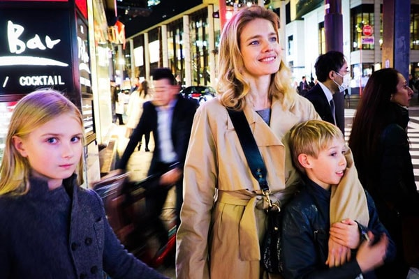Natalia Vodianova's son Viktor Portman and daughter Neva Portman
