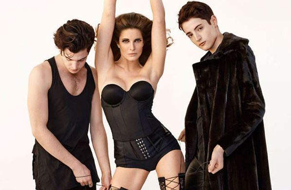 Peter Brant Jr. with mother, Stephanie Seymour and brother Harry