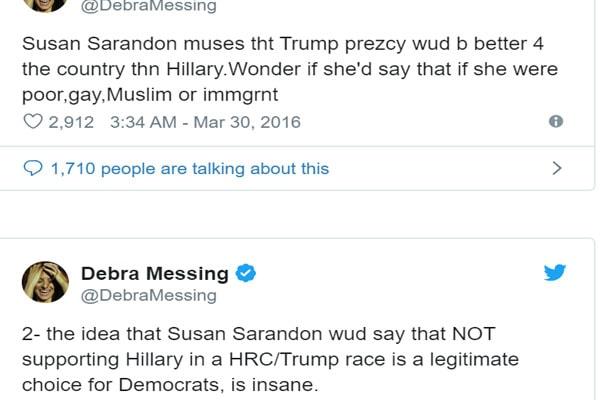 Debra Messing tweets