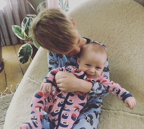 Hilary Duff's children Banks Violet and Luca Cruz Comrie