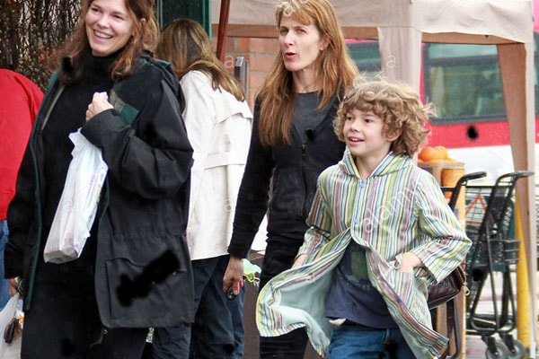 Jeanne Tripplehorn and her son