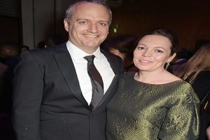 Olivia Colman and her husband Ed