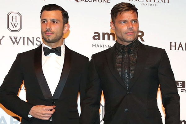 Ricky Martin with husband Jwan Yosef
