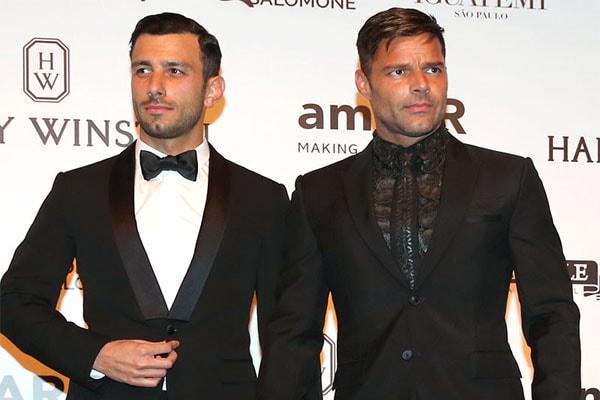 Ricky Martin with husband Jwan Yosef