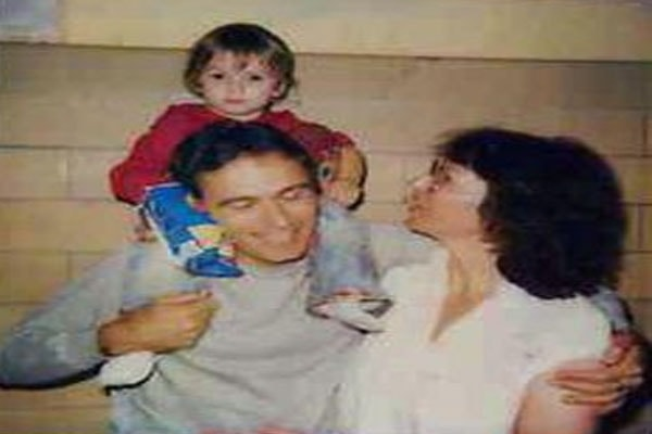 Ted Bundy with his family
