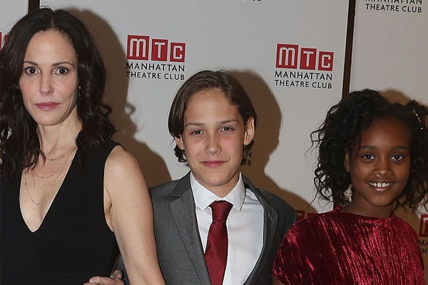 William Atticus Parker with mother and sister