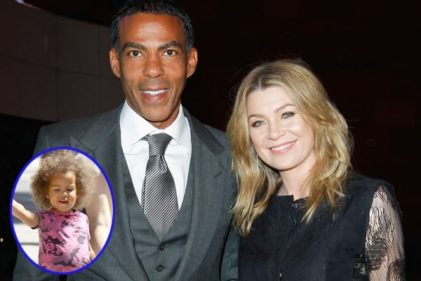 Chris Ivery and Ellen Pompeo with their daughter Sienna May Pompeo