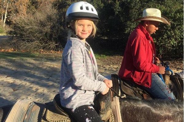 Sadie Grace LeNoble on horseride