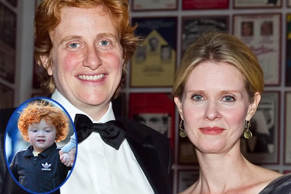 Cynthia Nixon and son Max Max Ellington with partner Christine Marinoni