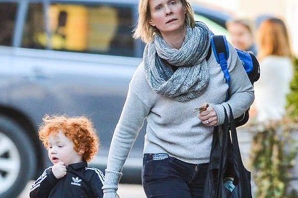 Cynthia Nixon and her son Max Ellington (2)