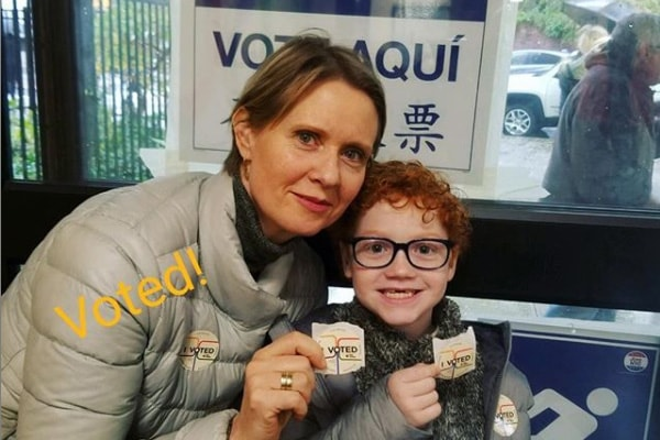 Cynthia Nixon and her son Max Ellington
