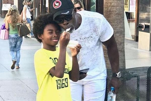 Djimon Hounsou and his son Kenzo Lee Hounsou