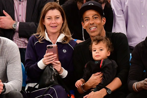Ellen Pompeo's husband Chris Ivery with their son