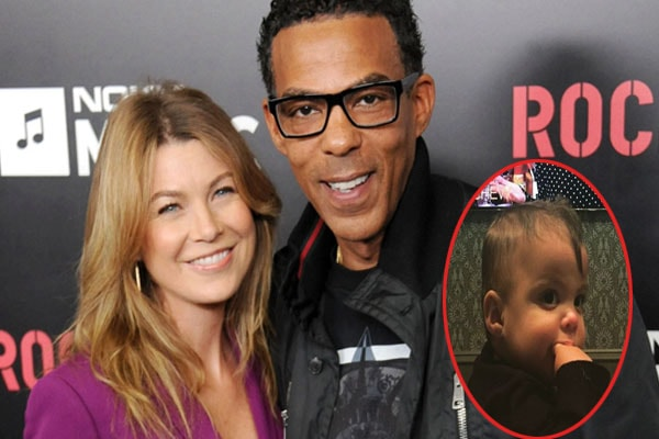 Ellen Pompeo and her husband with their son Eli Christopher