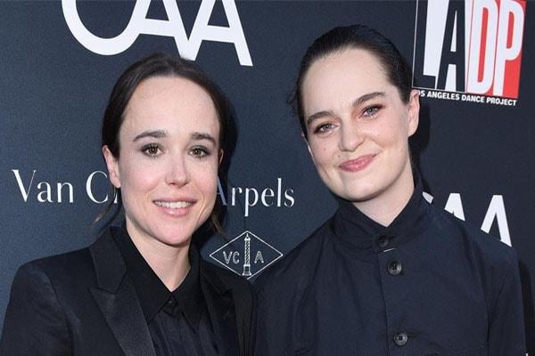 Emma Portner and wife Ellen Page