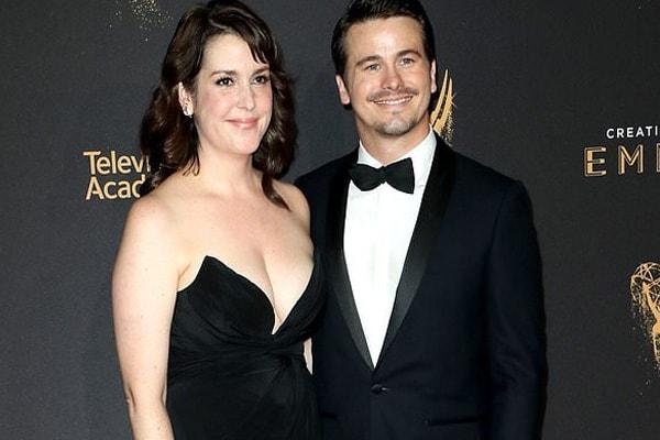 Jason Ritter's fiancee Melanie Lynskey at Awards