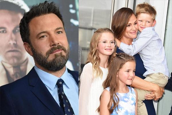 Jennifer Garner and Ben Affleck with their children
