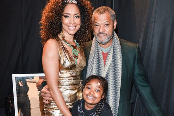 Laurence Fishburne and his ex-wife Gina Torres with daughter Delilah Fishburne