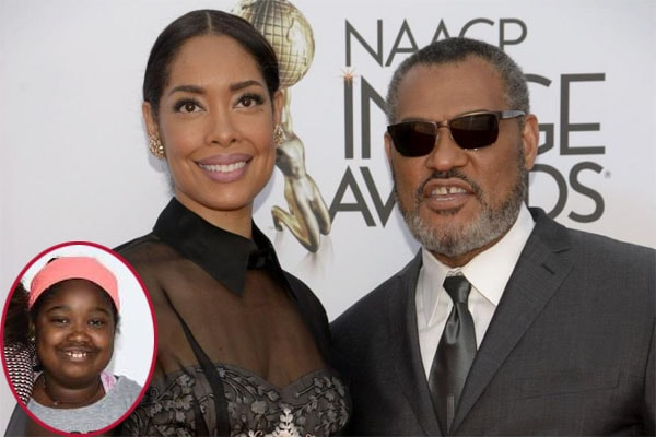 Laurence Fishburne and his ex-wife Gina Torres with their daughter Delilah Fishburne