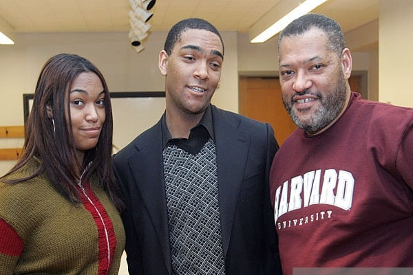 Laurence Fishburne and his son Langston Fishburne and daughter Montana Fishburne