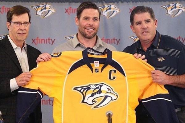 Nashville Predators captain Mike Fisher