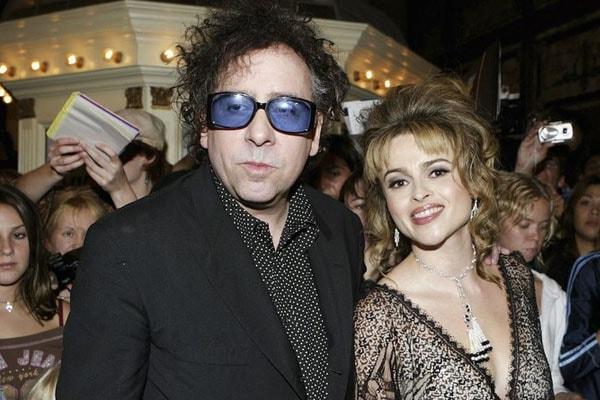 Tim Burton with ex-girlfriend Helena Bonham Carter