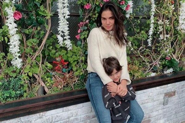 James Marsden's son William Luca Costa-Marsden with mother