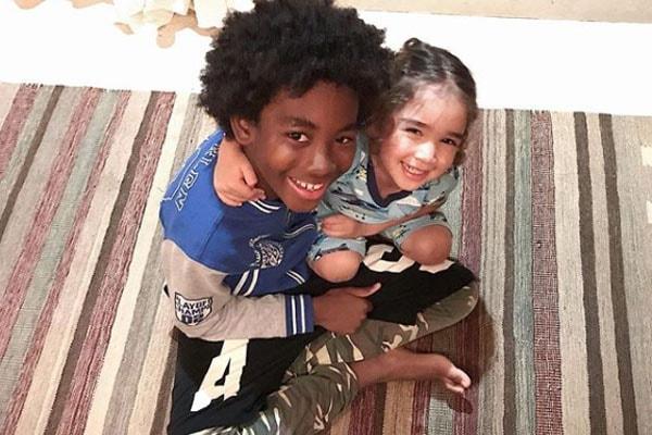 Wolfe Lee and Kenzo Lee Hounsou